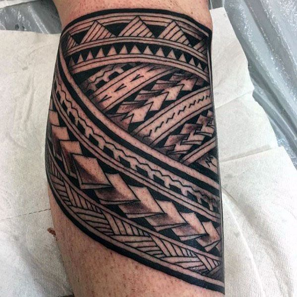 40 polynesian leg tattoo designs for men manly tribal. Black Bedroom Furniture Sets. Home Design Ideas