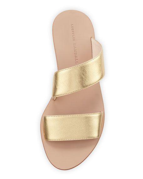 9d1b5c6bcc1a8 Clem Flat Leather Slide Sandal