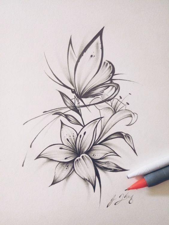 Photo of Butterfly Flower Tattoo #flowertattoos – diy tattoo images