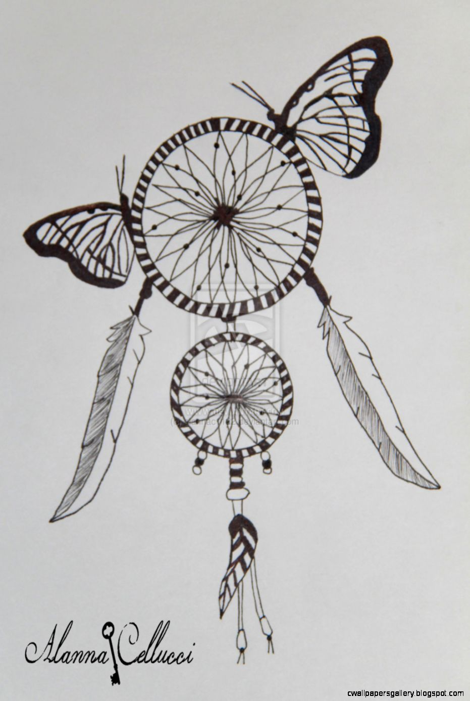 Dream Catcher Drawing Tumblr Courseimage Embroidery In 2019