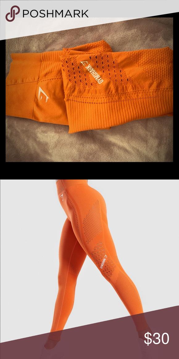 6f202fda39113 Gymshark Flawless Knit Leggings - Burnt Orange Worn for one workout, runs  small, fits more like a Medium Gymshark Pants Leggings