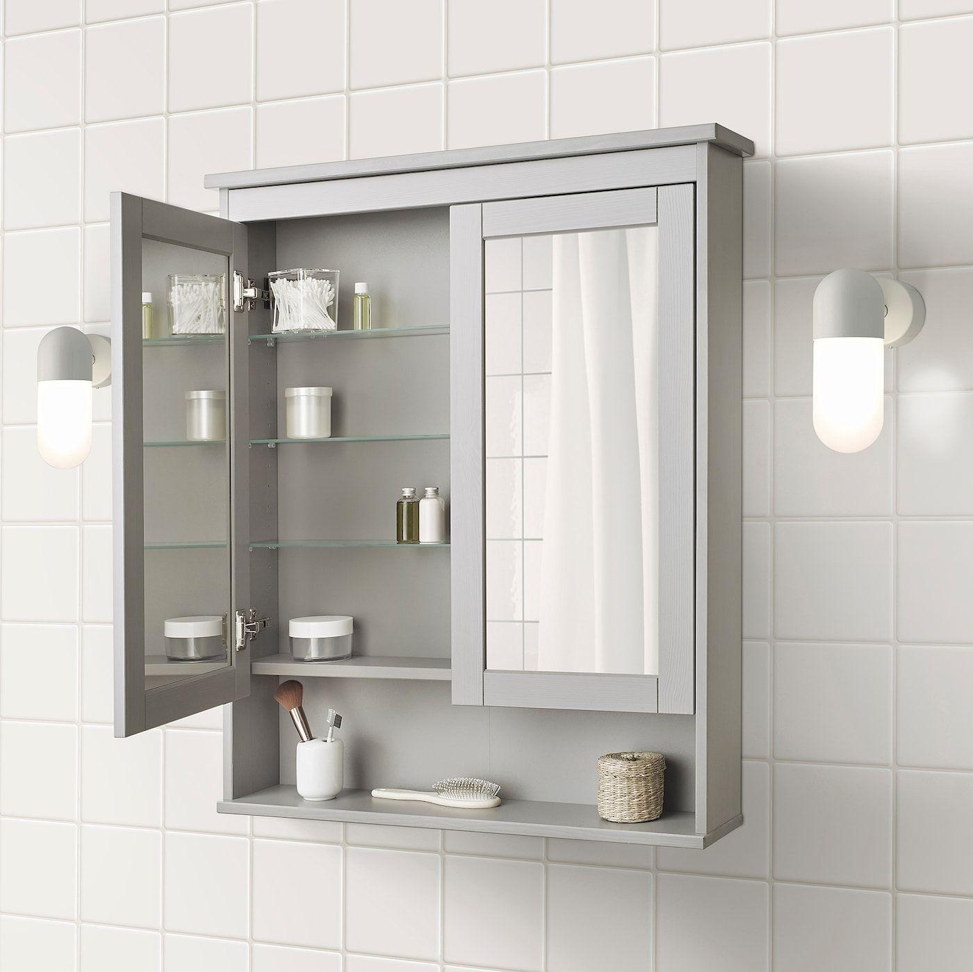 Hemnes Mirror Cabinet With 2 Doors Gray Shop Ikea Ca Ikea In 2020 Mirror Cabinets Ikea Hemnes Mirror Trendy Bathroom