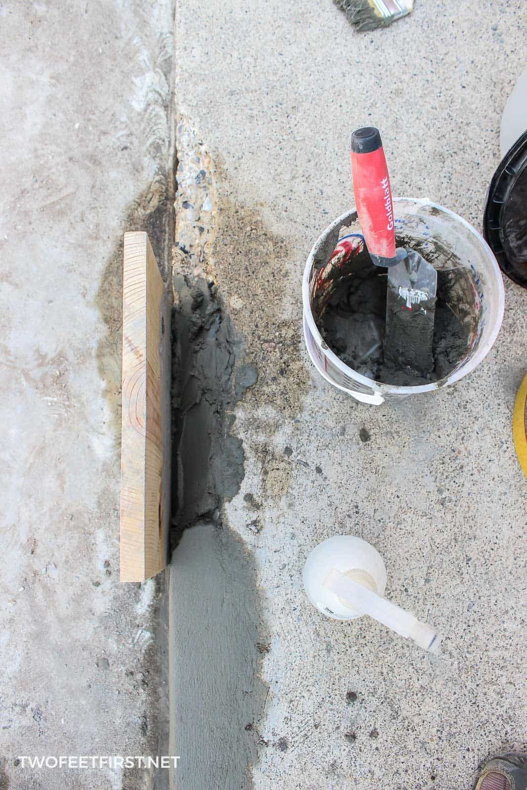 How to fix chipped concrete steps home repair repairing
