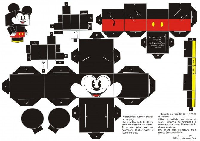 Mickey Mouse Papercraft Mickey Baby Shower Pinterest Paper