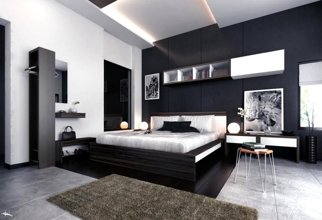 25 Elegant Black Bedroom Decorating Ideas Modern Bedroom Furniture Feature Wall Bedroom Bedroom Interior