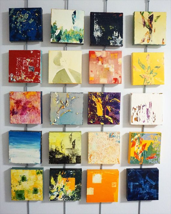 Abstract Oil Painting Happy Tiles Dreaming Of M Modern Art