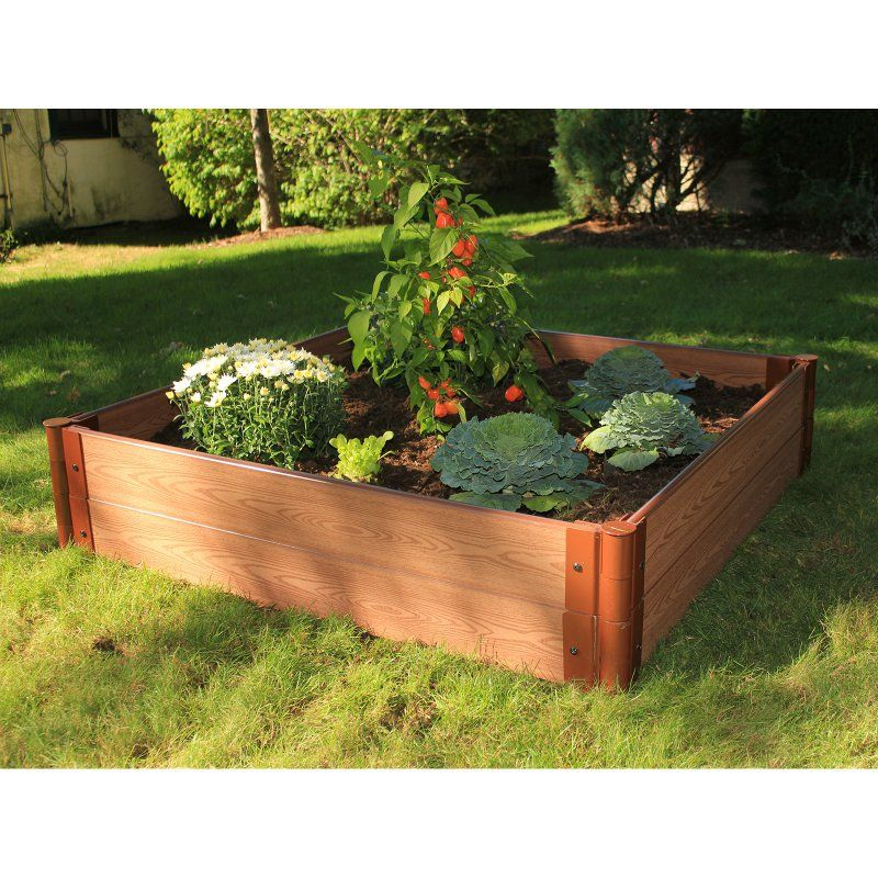 Frame It All 1-inch Series Composite Raised Garden Bed Kit - 4ft. x ...