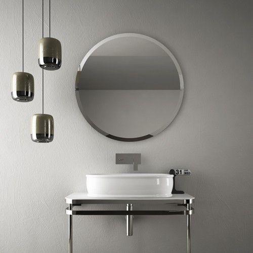 modern round bathroom mirror.  Mirror Azuley Round Mirror From Art Ceram  YBath In Modern Bathroom E