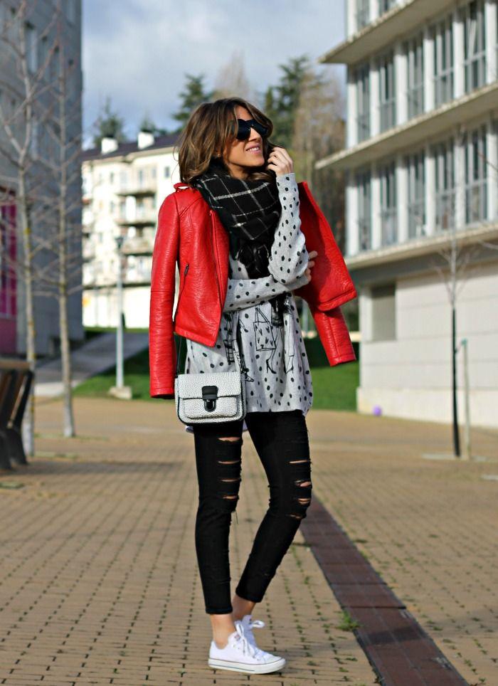 Como combinar una chaqueta roja de cuero 2  1307142ad7c90
