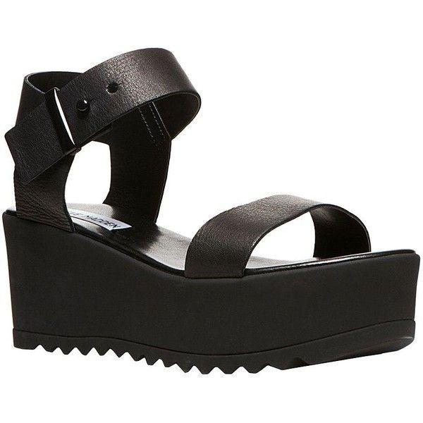 d836f7ee4791 Steve Madden Surfside Leather Platform Wedge Sandals