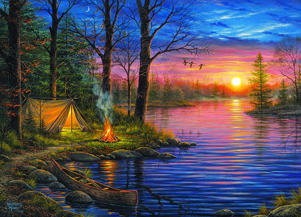 Evening Mist Paisaje Para Pintar Hermosos Paisajes Pinturas Hermosas