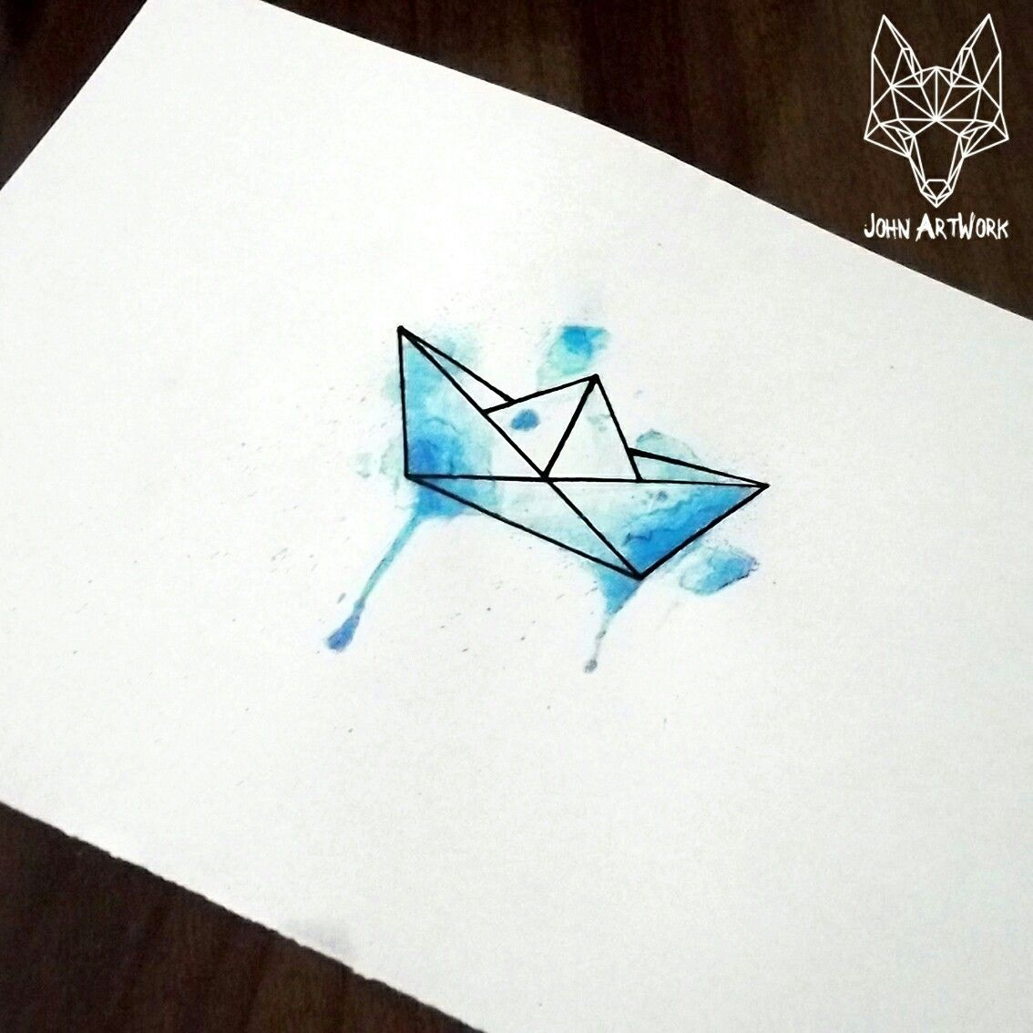 Geometric tattoo - picture result for the meaning of origami boat tattoo - Aquarell / Zeichnen -