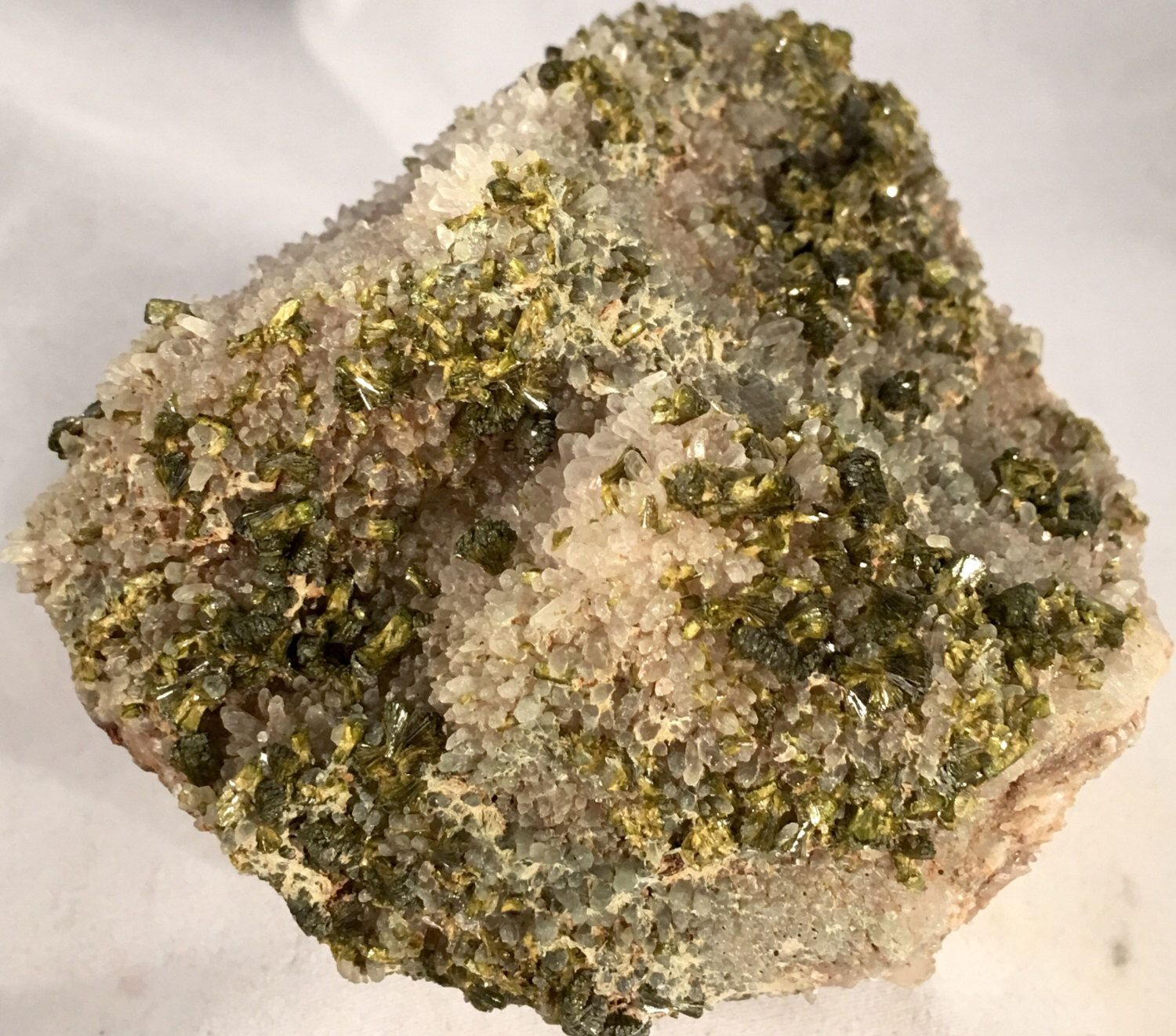 Fantastic Enormous Cluster of Fibrous Epidote Crystals and Terminated Quartz Crystals on Original Matrix by GEMandM on Etsy https://www.etsy.com/listing/387175272/fantastic-enormous-cluster-of-fibrous