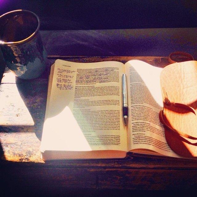 ESV journaling Bible, leather bound.