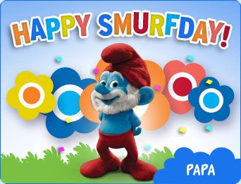 Send A Smurfs E Card To Your Birthday Choose From A Variety Of Smurfy E Cards To Personalize And Send To Your Friends And Family