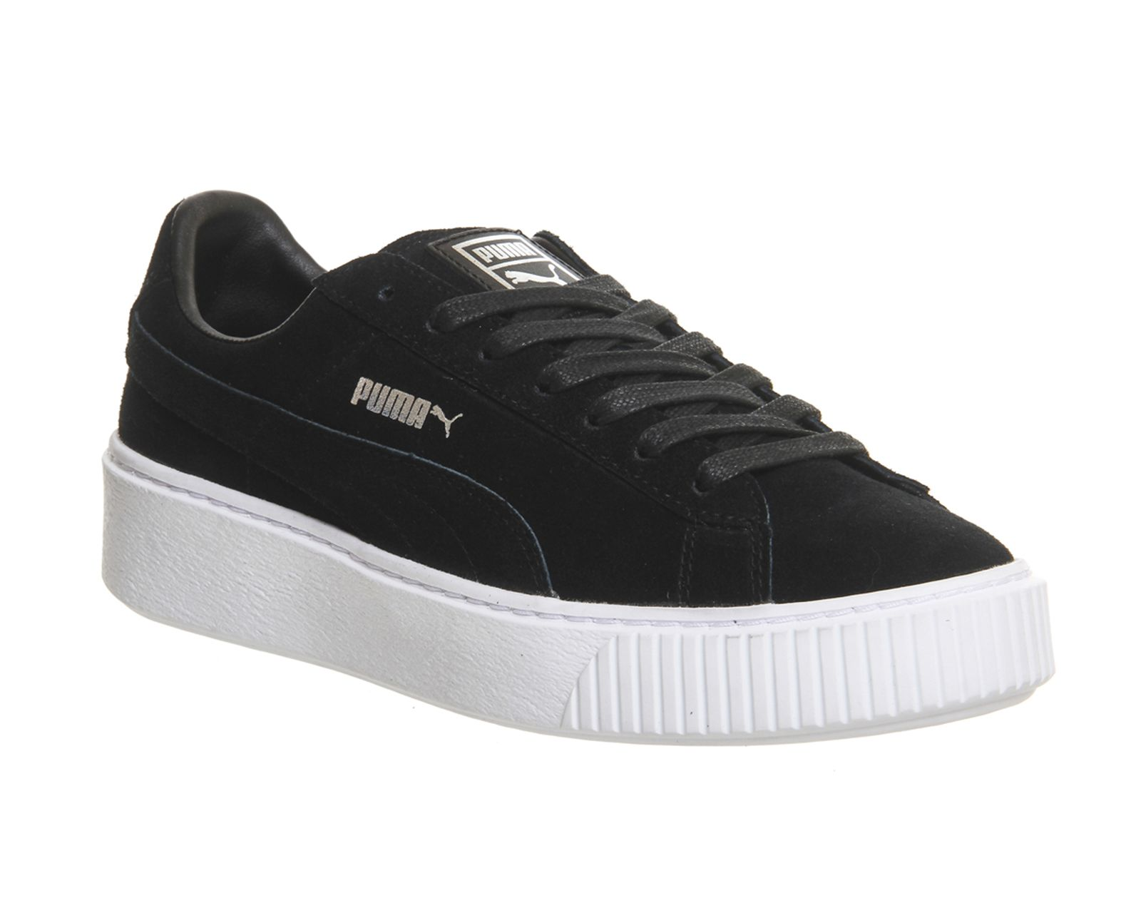 Buy Black White Puma Suede Platform from OFFICE.co.uk.  358c4f76ac1