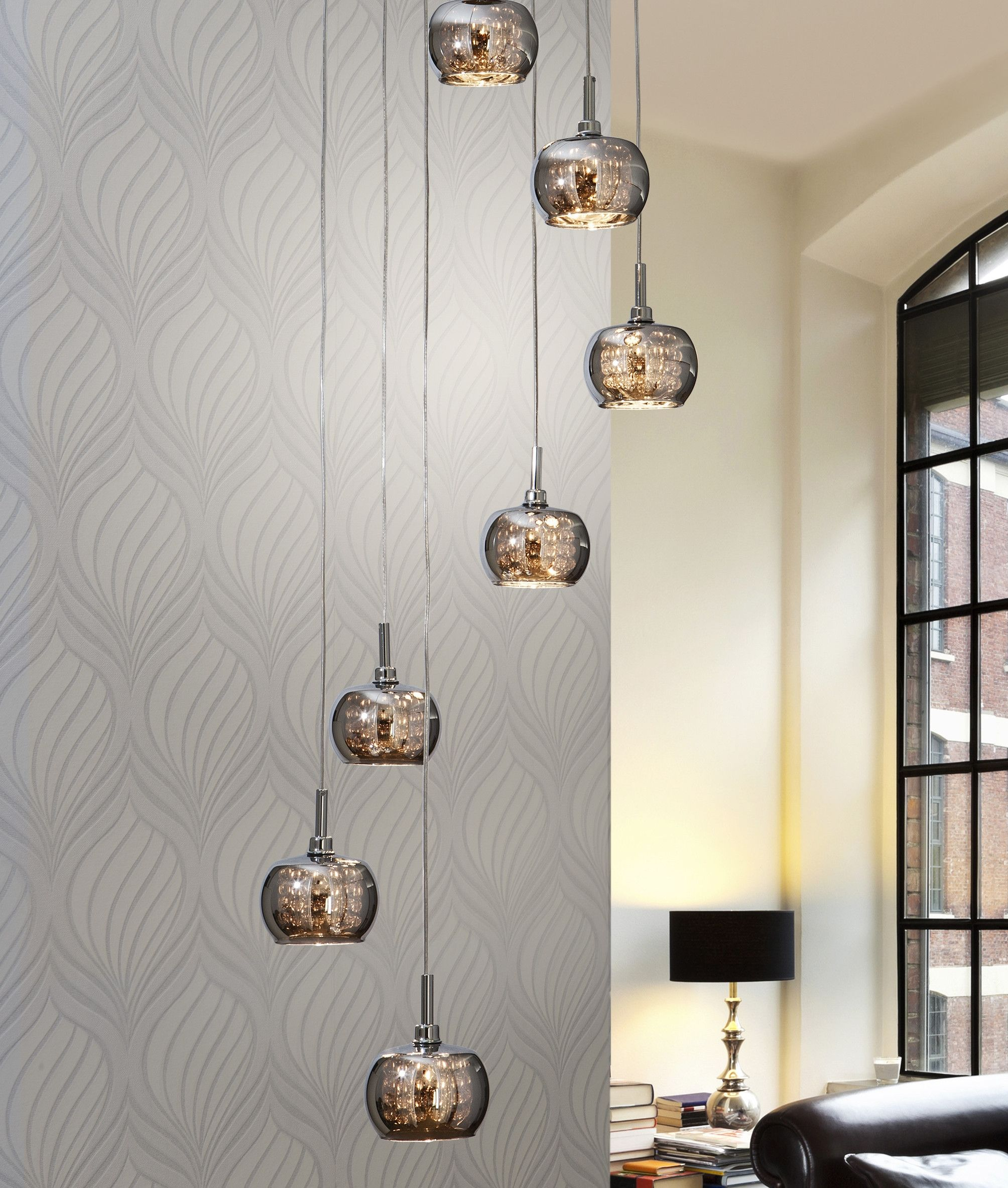 Long Drop LED Pendant Smoked Glass Shades | Lampen
