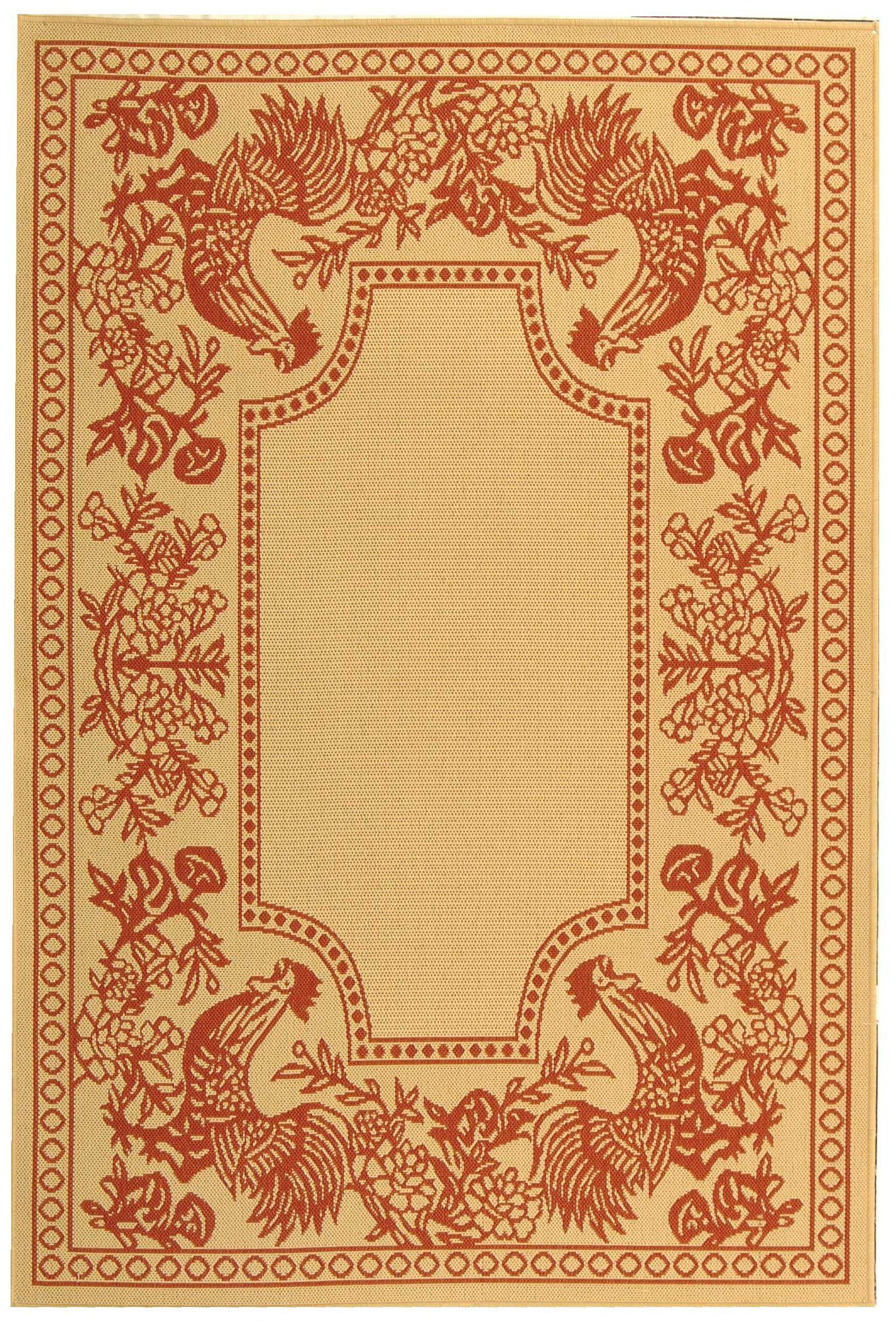 Wysocki Natural Red Area Rug In 2020 French Country Decorating Country House Decor Rooster Rugs