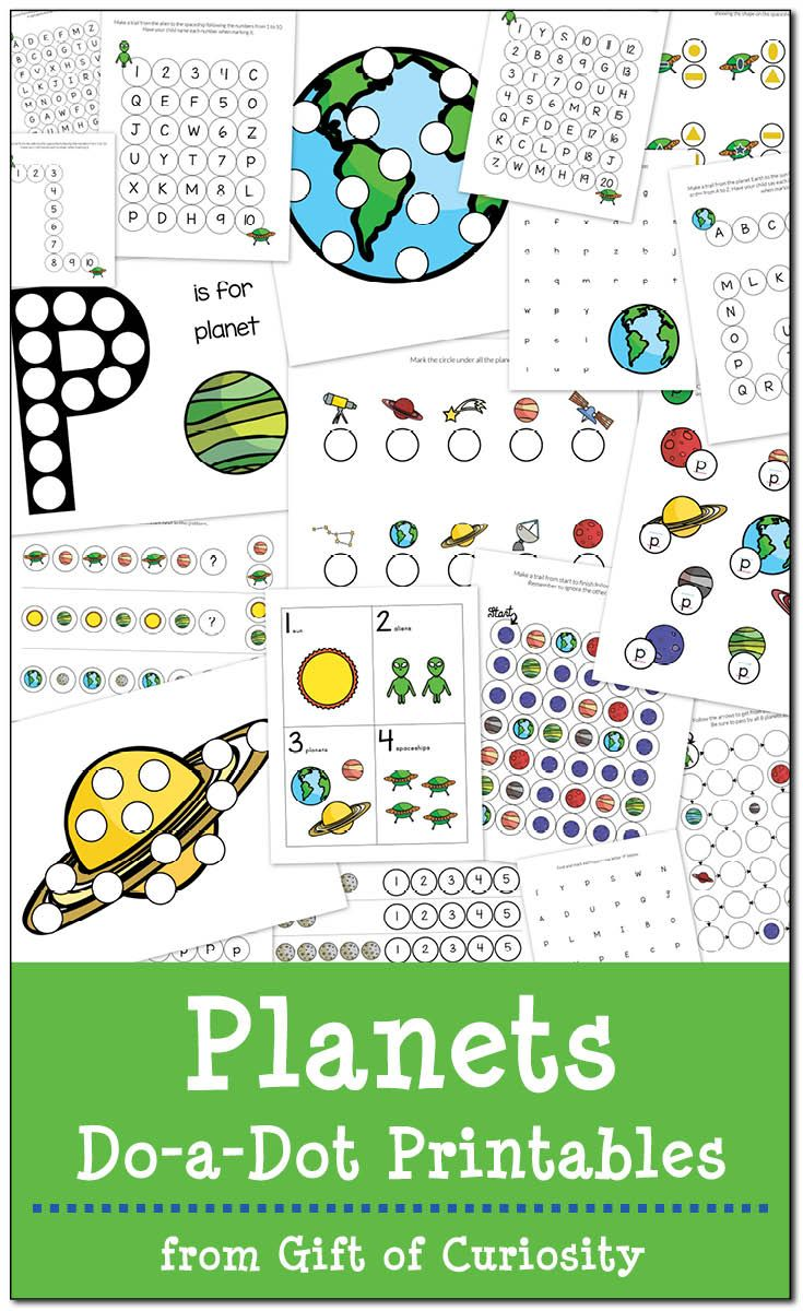 Planets Do-a-Dot Printables {free | Space for kids | Pinterest ...