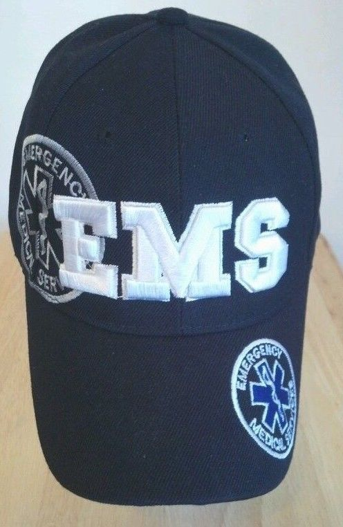 d29a42f54a7 Embroidered EMS hat. Emergency Medical Service Cap embroidered on all sides   EMShat