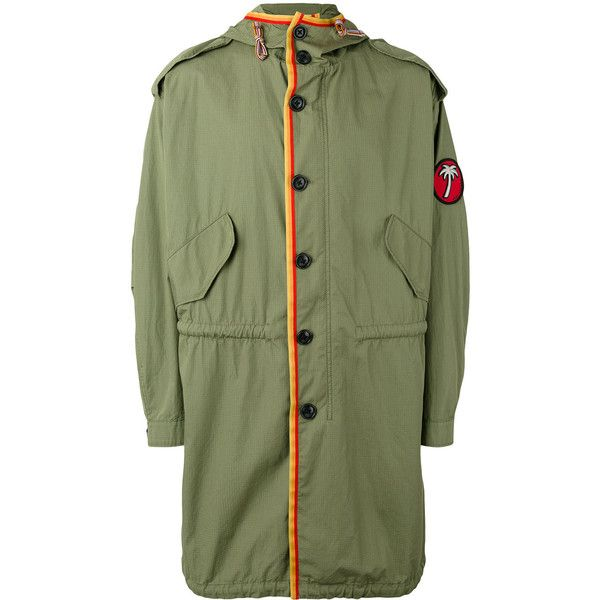 Marc jacobs green trench coat