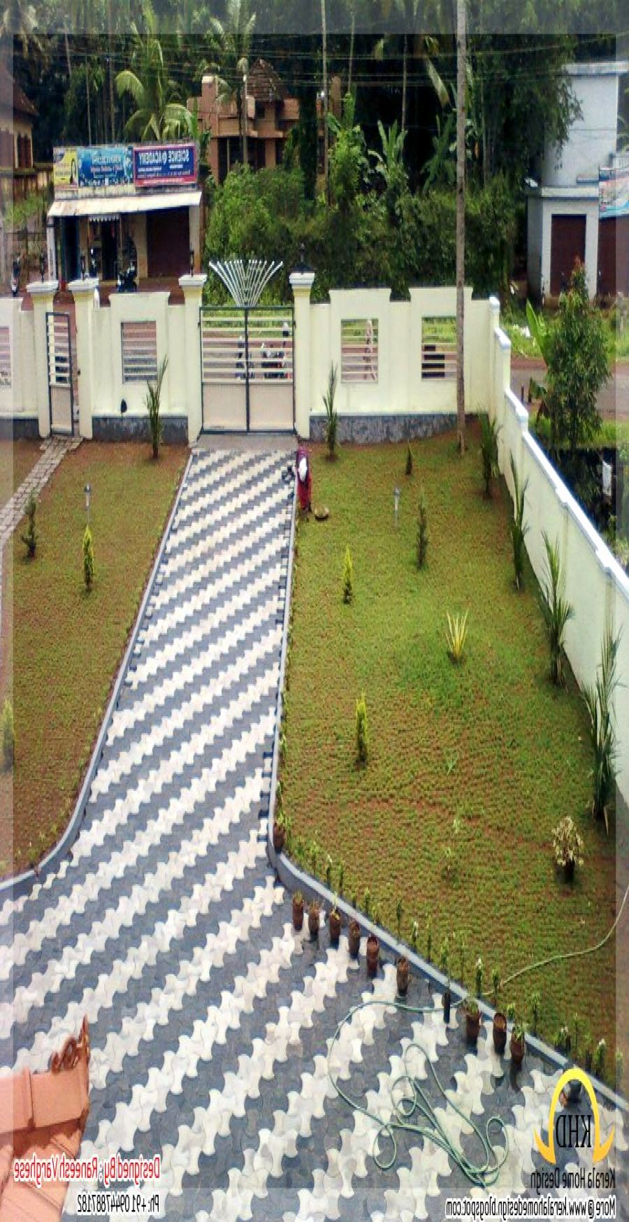 Luxury Small Garden Ideas Kerala | Home landscaping, Small ...