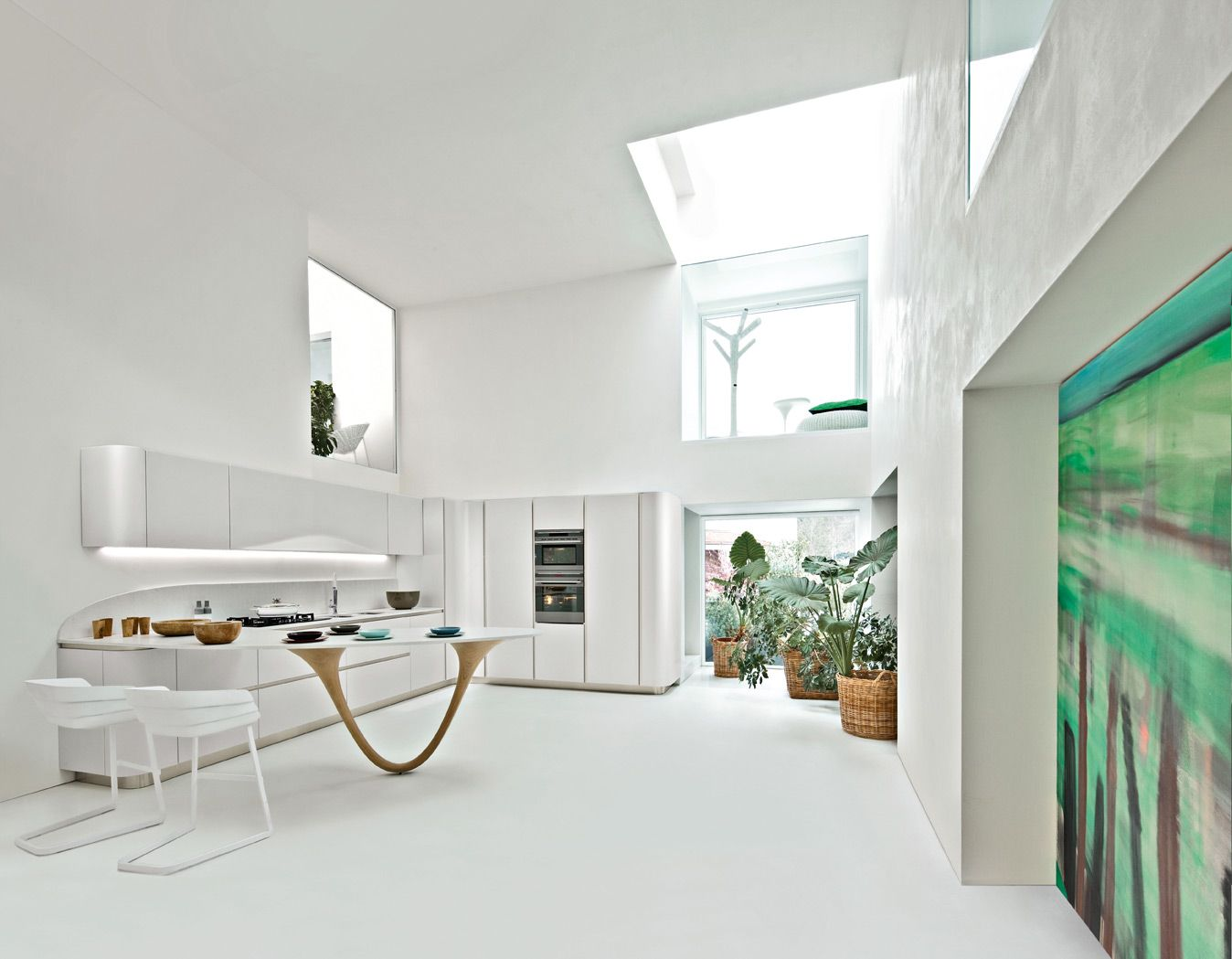 Ola 20 pininfarina design doors in nordic white for Decorazioni cucine moderne
