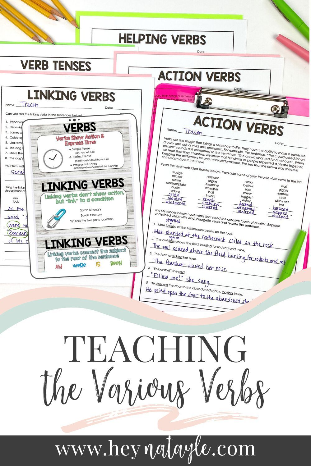 Teaching Action Linking And Helping Verbs Linking Verbs Helping Verbs Verbs Lessons [ 1500 x 1000 Pixel ]
