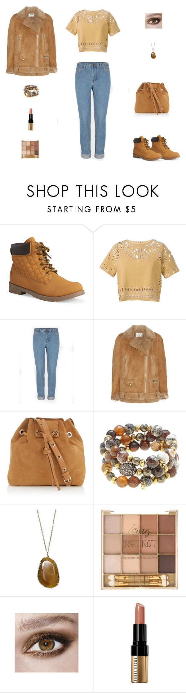 """""""Contest: Caramel Suede Outfit"""" by billsacred ❤ liked on Polyvore featuring Mode, Aéropostale, Sea, New York, Acne Studios, Vanessa Bruno, Hipchik und Bobbi Brown Cosmetics"""