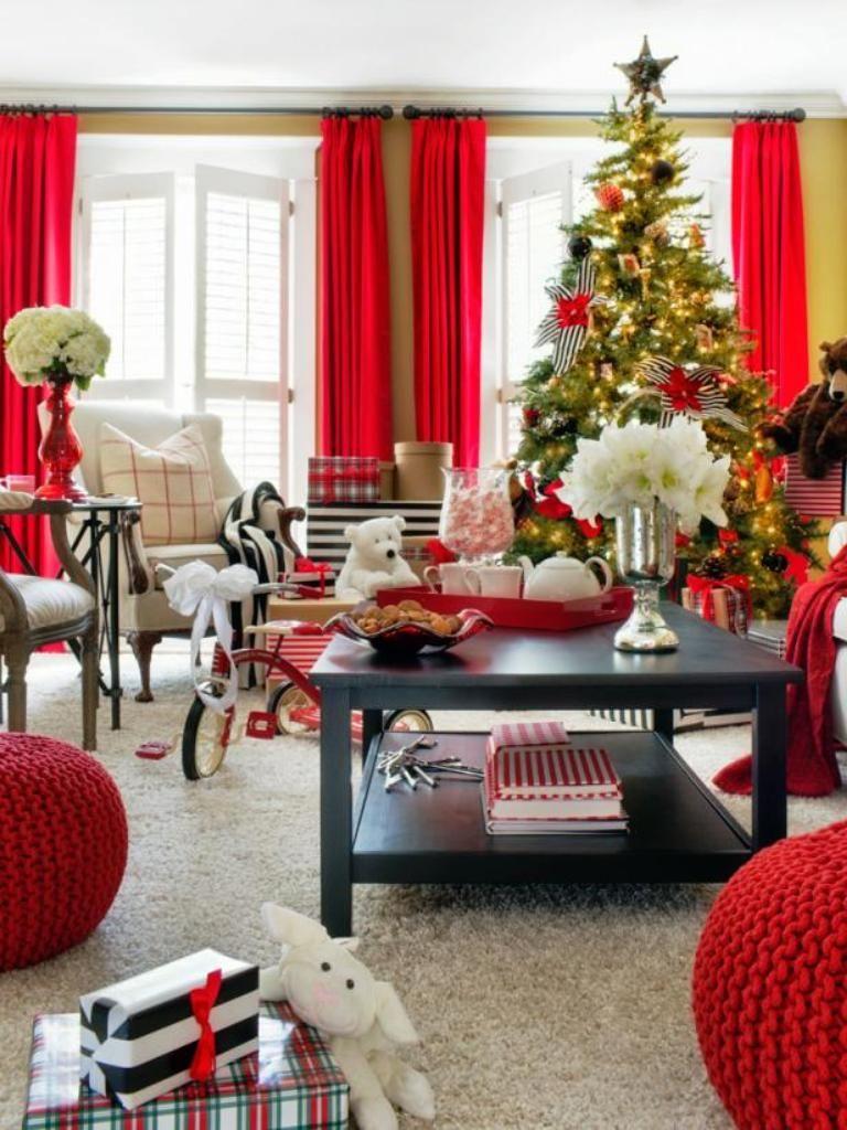Living Room Furniture Arrangement Christmas Tree Living
