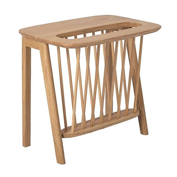 Scandi Magazine Rack End Table