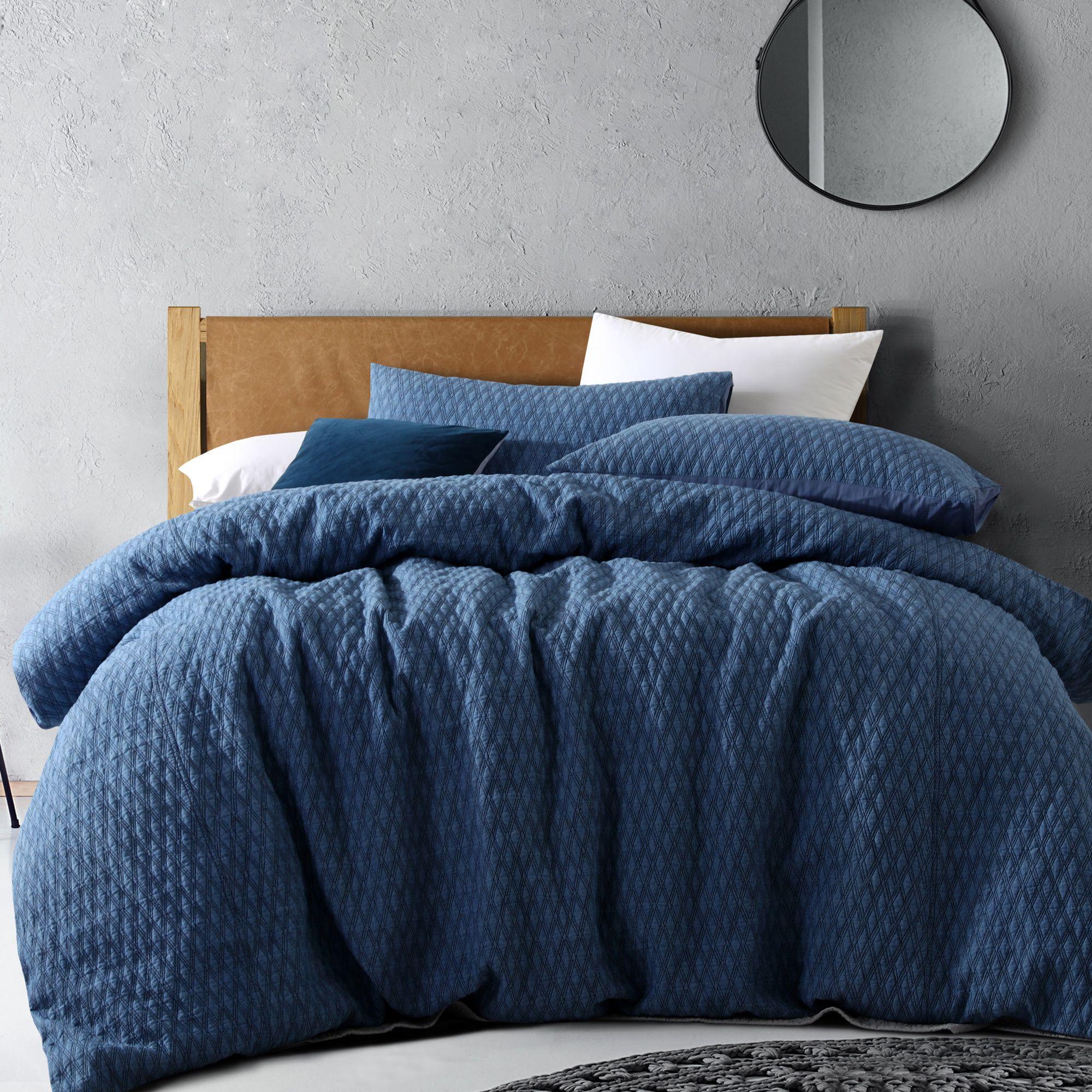Stonewashed Denim Quilt Cover Set By Vintage Design Homewares Zanui Quilt Cover Sets Cotton Quilt Covers Velvet Quilt Cover