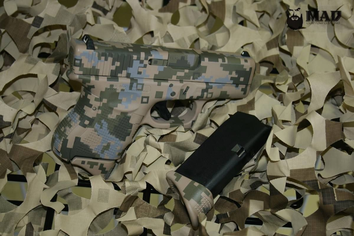 Digital Cerakote Camo Glock 26. #madcustomcoating, #madcustom, #glock, #cerakote