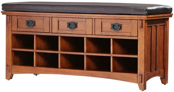 Artisan Bench with Shoe Storage | Our Home | Pinterest