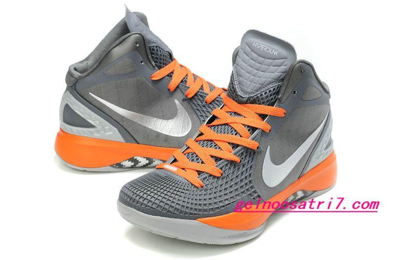 Nike Zoom Hyperdunk 2012 Supreme Shoes Wolf Grey Total Orange Silver 454138 086