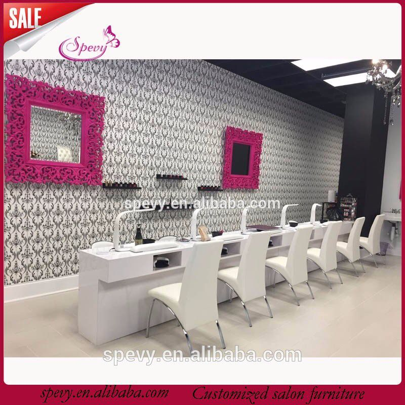 2017 wooden nail salon equipment bar chair | Nail bar | Nail salon ...