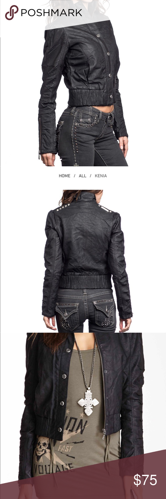 Women's Affliction faux leather jacket Leather jacket