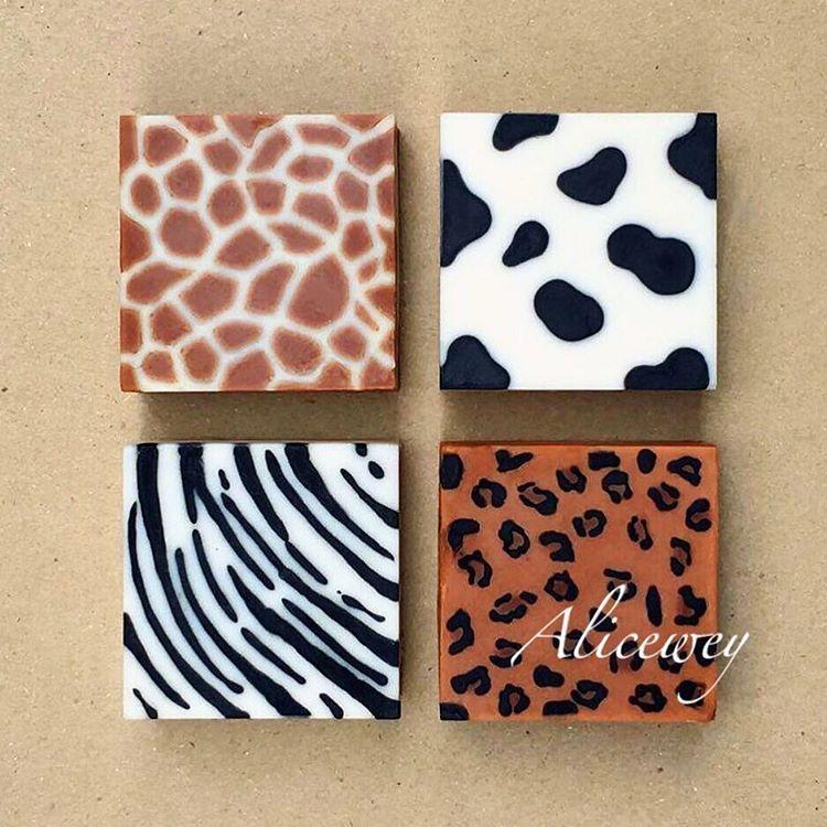 Cool! Animal Print Soap Designs! Love The Idea Of Zoo Soap