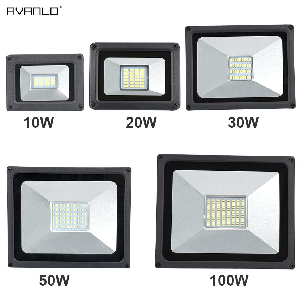 220V 10W//30W//50W//100W LED Security Floodlight Outdoor 6000K Waterproof Wall Lamp