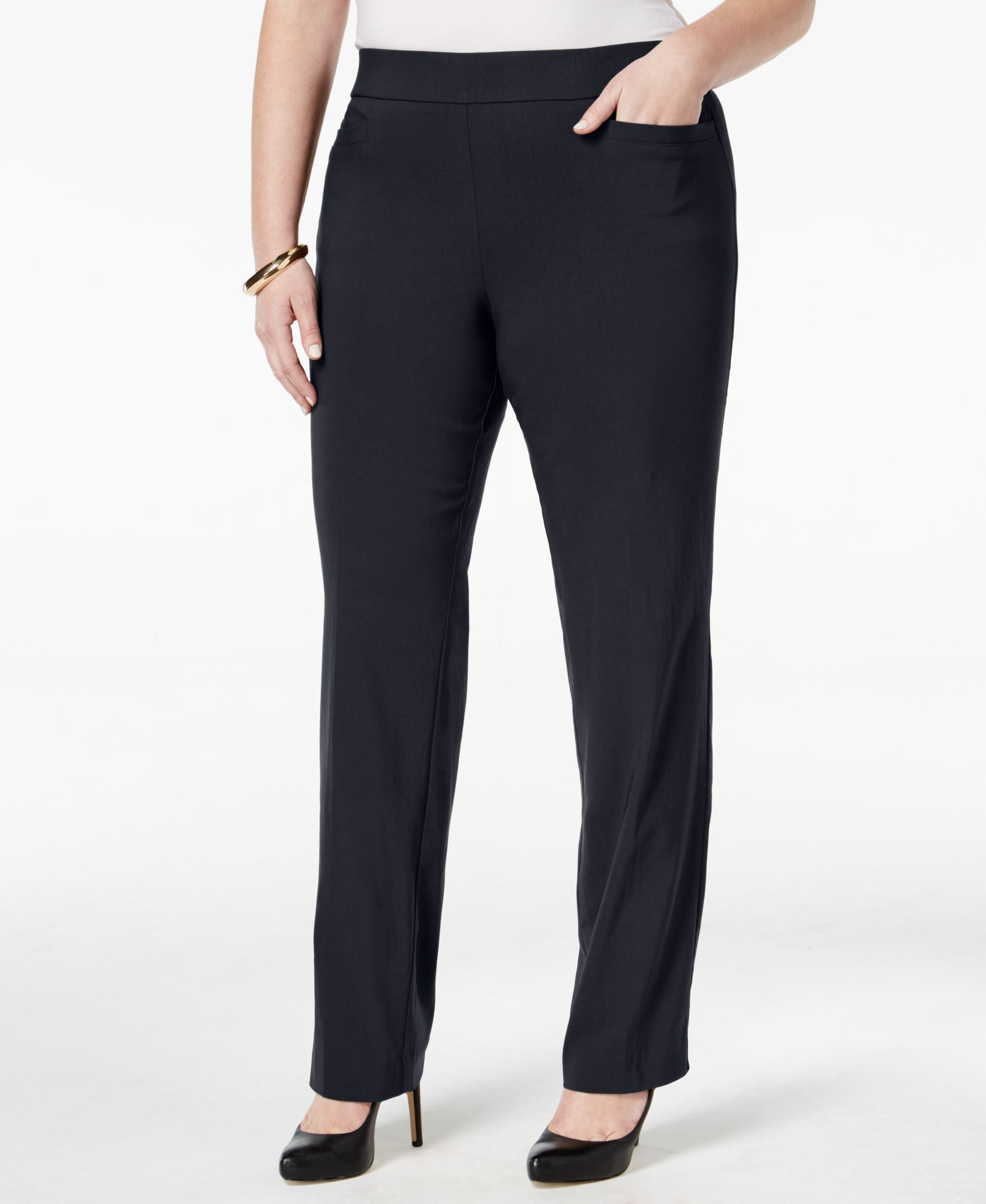 Jm Collection Plus Size Pull-On Bootcut Pants, Only at Macy's