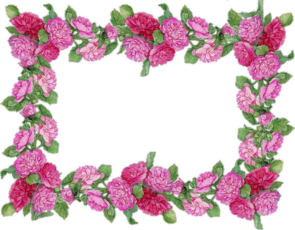 Free Digital Rose Frame And Borders In Vintage Style Blumenrahmen Freebies Vintage Frames Vintage Flowers Flower Frame