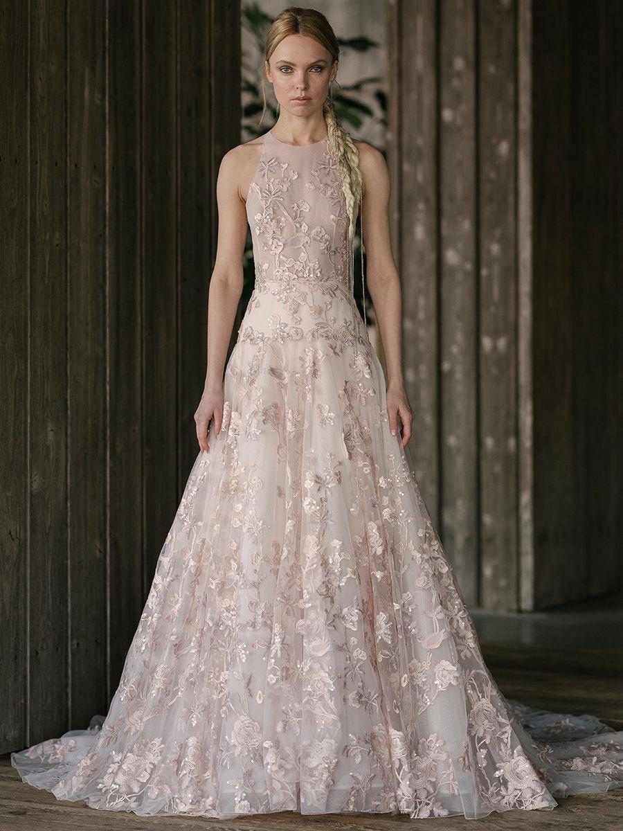 Blush wedding dress with sleeves  Rivini by Rita Vinieris Spring  Bold Modern Wedding Dresses