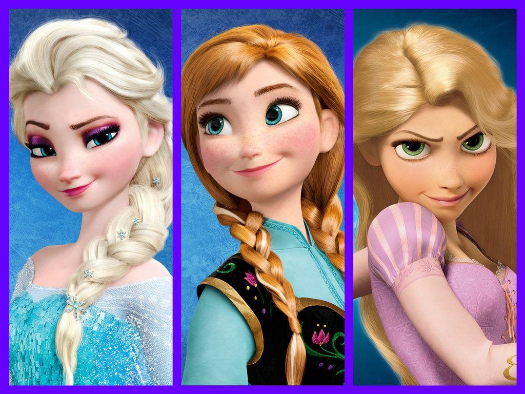 Resultado de imagen para elsa, anna y rapunzel