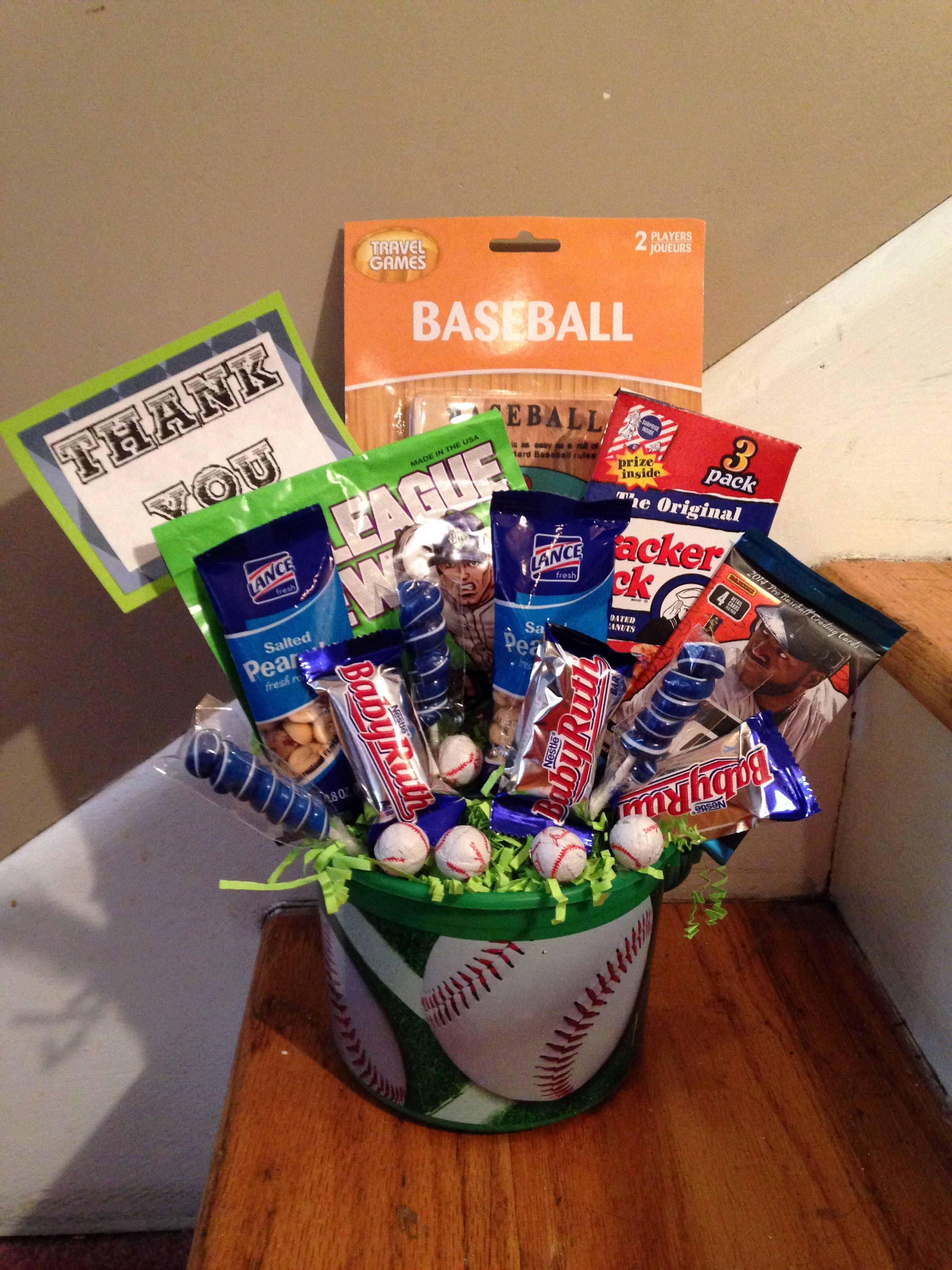 This Would Be An Awesome Thank You Gift For A Baseball T Ball