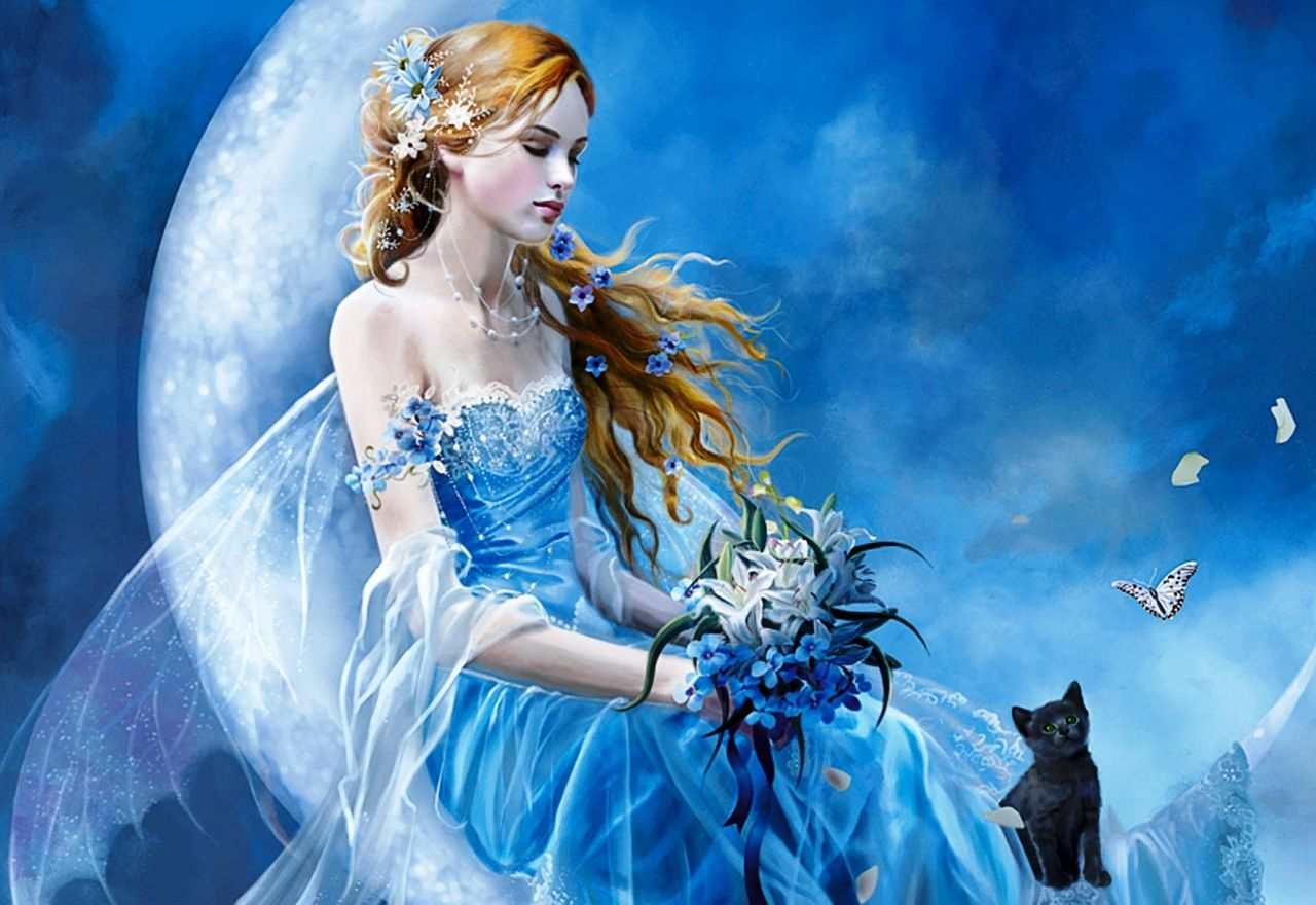 Cat and Angel. The kindest fairy tale