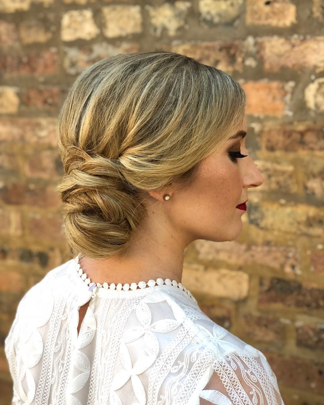 Bridal trial files dreamy art deco wedding updo hairstyle