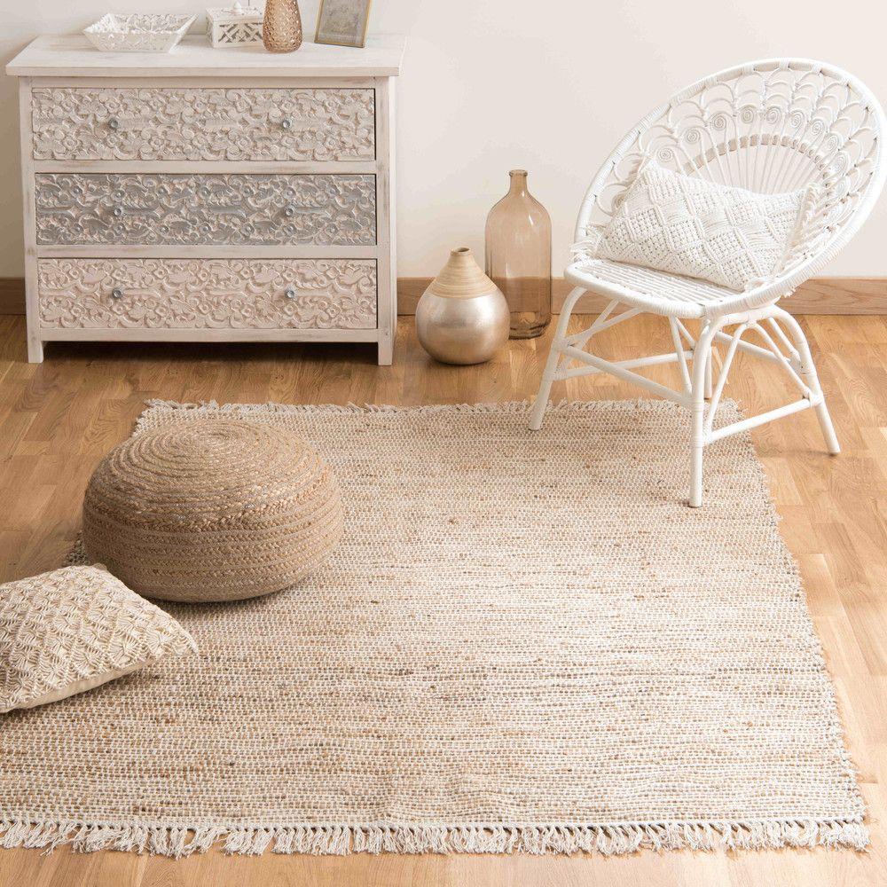 Tapis tressé en coton et jute 200 x 300 cm en 2019 | Inspi Chambre ...