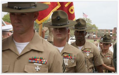 United States Marine Corps Drill Instructors - Parris Island Boot Camp - South Carolina, USA