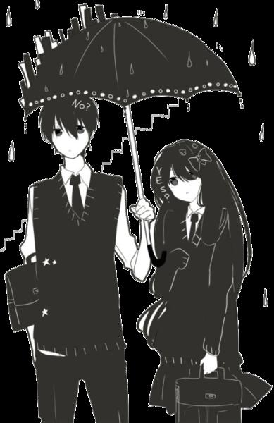 Anime Love Schwarz Weiß