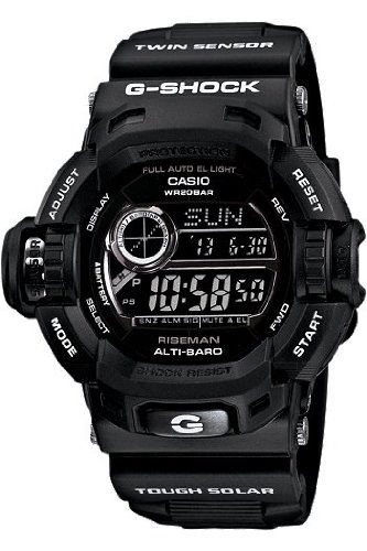 c6df83149a2 Casio G-Shock G-Force Military Concept Riseman Black G9200BW-1  Watches   Amazon.com
